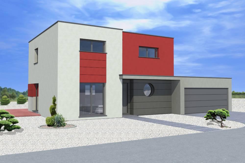 SCHWEIGHOUSE-SUR-MODER : Maison à toit plat sur un terrain de 4,57