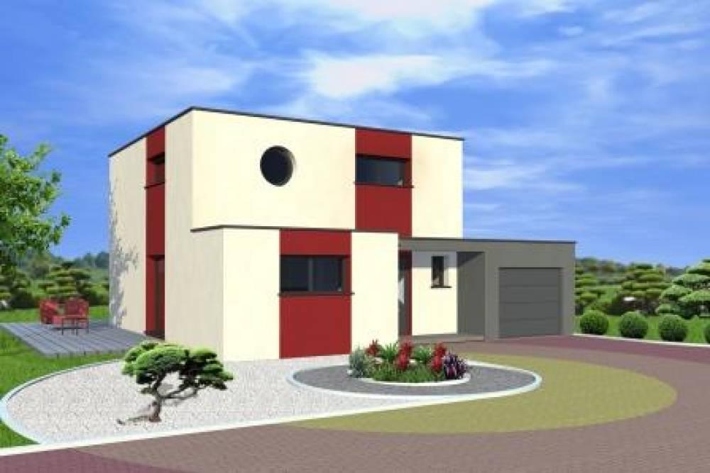 BENFELD : maison toit plat