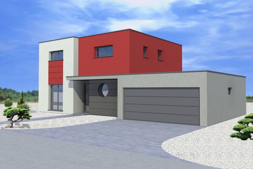 HOFFEN : maison à toit plat