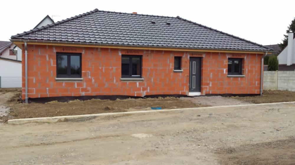 Merveilleux Maison Plain Pied 4 Pans à Stattmatten   Façade