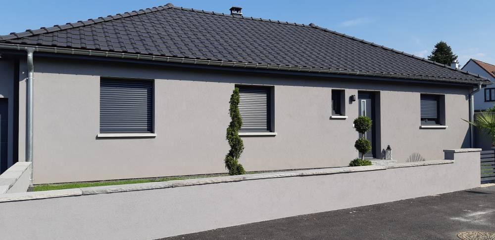 Maison plain-pied 4 pans Stattmatten